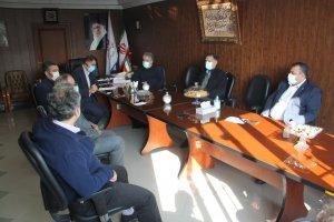 نشست هماهنگی در اجرای  دستورالعمل ستاد ملی کرونا برگزار شد .
