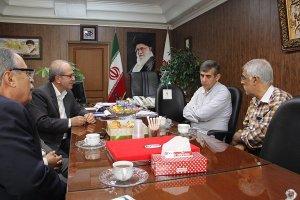 دیدار نائب رئیس شورای اسلامی شهر کرج با اعضای هیات رئیسه اتاق اصناف